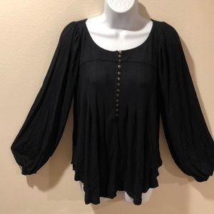 Free People Black top size Small NEW with tags